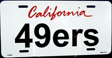 NFL San Francisco 49ers License Plate New aluminum auto tags made in U.S.A.