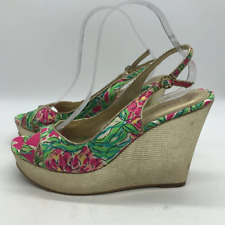 Lilly Pulitzer Green Wedge Heel 9.5