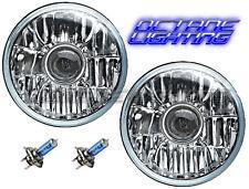 76-16 Jeep Wrangler Crystal Clear Projector Headlight Light Bulb Headlamp Pair