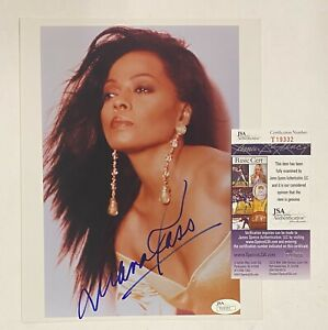 Diana Ross Signed 8x10 Photo Autograph JSA COA AUTO
