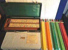 RARE vintage bakelite Catalin ROYAL Brand MAH JONG JONGG game 152 Tiles 5 Racks