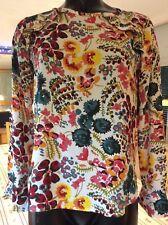 Loft Petites range floral long sleeve blouse size 6/8