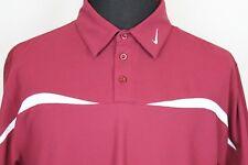 Nike Fit Dry Mens Short Sleeve Polo Shirt sz L Large Burgundy