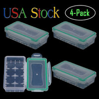 18650 Battery Storage Case/Organizer/Holder for 2x18650 Batteries Waterproof 4Pc