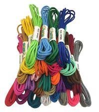 ROUND COLOURED SHOE LACES SHOELACES BOOTLACES 3mm WIDE - 90cm to 240cm LONG