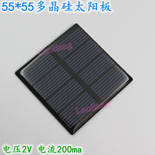 New 2V 200mA 0.4W 55x55mm Solar Cell Panel Module DIY Battery Phone Charger Toys