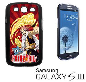 Fairy Tail Natsu Happy COVER RIGIDA CUSTODIA GALAXY S 3 III