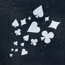 Lucky Dice7 Cards Label Car Or Laptop Decal Vinyl Sticker For Window Panel
