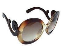 Lady Gaga Balrog Style Fashion Baroque Paparazzi Round Shape Sunglass - Brown