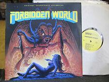 LP OST FORBIDDEN WORLD '82 susan justin roger corman monster sci-fi soundtrack!!
