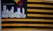 PITTSBURG STEELERS SKYLINE CITY PRIDE BANNER FLAG NEW 3x5 ft nfl au