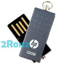 HP v115w 32GB 32G USB Flash Pen Drive Disk Stick Memory Thumb Swivel Metal Grey