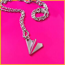 Love One Direction 1D Harry Styles Paper Plane Necklace Silver + Free Gift Bag