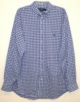 Polo Ralph Lauren Big & Tall Mens 3XB Blue Red Plaid Button-Front Shirt NWT 3XB