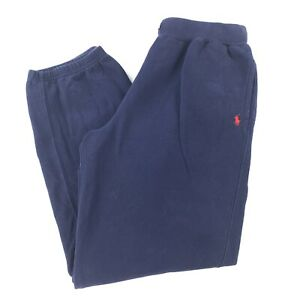 Polo Ralph Lauren Navy Blue Sweatpants Youth XL Tight Waist Band Casual Wear
