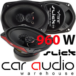 "Vibe SLICK 6x9"" inch 960 Watts a Pair 3 Way Car & Van Rear Shelf Parcel Speakers"