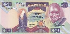 More details for 1986-88   zambia 50 kwacha banknote   banknotes   km coins