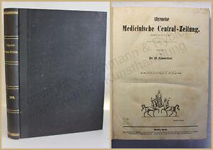 Rosenthal Allgemeine medicinische Central-Zeitung 1879 Medizin Wissen Studium xy