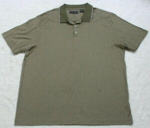 Perry Ellis Portfolio Gray Men's Polo Shirt XXL Cotton Short Sleeve 2XL Mans