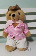 Nrma Careflight Bear Soft Toy Plush Toy 32Cm Tall Pink Checkered Shirt Akubra
