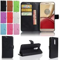 Flip Leather Card Wallet Case Skin Cover For Motorola Moto Z / Z Force / Z Play