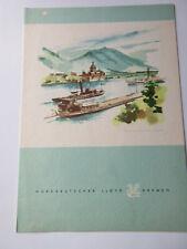 North German Lloyd 2nd Bremen Cruise to the Caribbean - Dinner Menu 2/8 1960