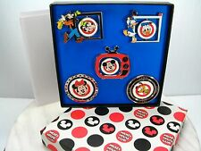 NEW Rare MICKEY MOUSE CLUB 5 PIN SET Metal LIMITED EDITION 500 DISNEYLAND Disney