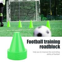 10pcs Soccer Aid Training Cone Football Barriers Plastic Marker Holder Durable