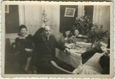 PHOTO ANCIENNE - VINTAGE SNAPSHOT - NOËL SAPIN BLAGUE GAG DRÔLE -CHRISTMAS FUNNY