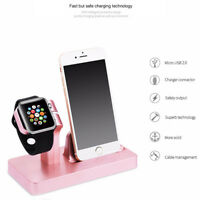 Charging Dock Stand Station Charger Holder for Apple Watch iWatch iPhone XS MAX