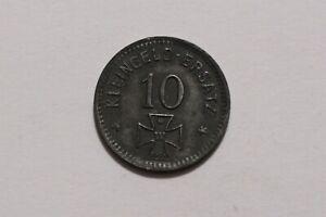 GERMANY WAR MONEY TOKEN 10 PFENNIG 1918 WALDSEE ZINC B34 #Z8074