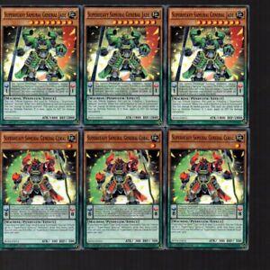 Yugioh Cards - 6 Card Superheavy Samurai General Jade & Coral Set BOSH 1st Ed