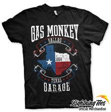 Official Gas Monkey Garage Texas Flag GMG Fast N Loud T-Shirt