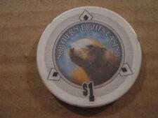 Vintage Swimonish Nothern Lights Casino Anarcotes Washington $1 Casino Chip