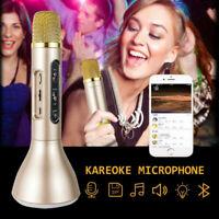 Wireless Bluetooth Karaoke Microphone Speaker Handheld Mic USB Player KTV Relax