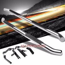 "Silver Steel 45 Degree Bend 3"" Wide Step Running Board For 09-15 Honda Pilot"
