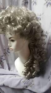 Victorian  Edwardian style  wig sass  steampunk Grey cascade ghost nutcracker