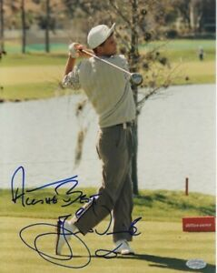 "Jesper Parnevik signed 8x10 PGA Golf Photo ""All the Best""- Mounted Memories Holo"