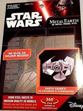 STAR WARS METAL EARTH 3D MODEL KIT DARTH VADER'S TIE ADVANCED X1 STARFIGHTER