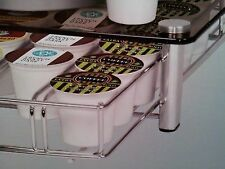 Deluxe Glass Coffee Drawer for Keurig Single Serve cups Holds 35 cups