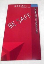 CRJ 200 Delta Airlines Emergency Safety Information Card 2009 Airplane MINT Fly