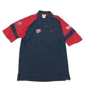 VINTAGE Chase JEFF GORDON Polo Size Large Blue Red Colorblock Short Sleeve PEPSI