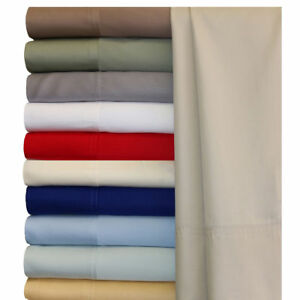 1000 Thread Count Egyptian Cotton Deep Pocket Bedding Items Solid Colors Full XL