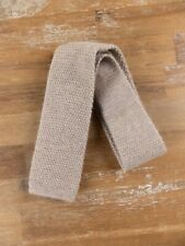 $295 BRIONI beige tricot knit cashmere silk tie knitted authentic - NWT