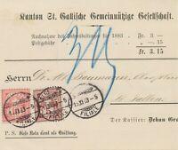 SCHWEIZ 1883 5 C dunkellilabraun u 10 C rosakarmin Kreuz selt MiF Pra.-NN ABART