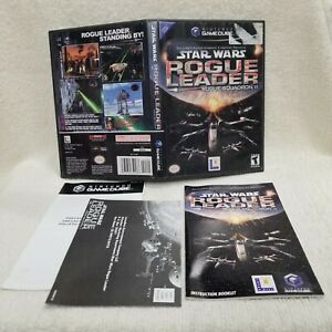 ⭐Star Wars Rogue Leader Squadron 2 Gamecube Box Manual Inserts ONLY No Game!⭐👀