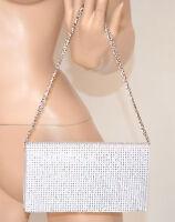 Pochette borsello donna borsa cristalli cerimonia elegante bianca da sera 1035