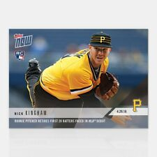 2018 Topps Now~Card #141 ~ Nick Kingham Rookie Pitcher Retires First 20 Batters