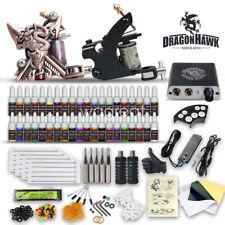 Tätowierung Komplett Tattoo Kit Set 2 Tattoomaschine 40 Farben inks Netzgerät