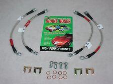 1988-93 Corvette Braided Stainless Steel Brake Hose Kit Street Legal Made in USA